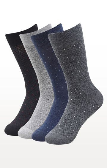 BALENZIA | Multicoloured Printed Socks - (Pack of 4)