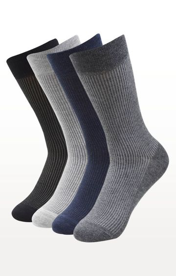 BALENZIA | Multicoloured Striped Socks - (Pack of 4)