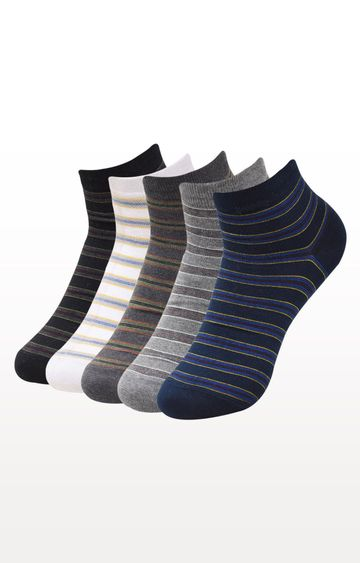 BALENZIA | Multicoloured Striped Socks - (Pack of 5)