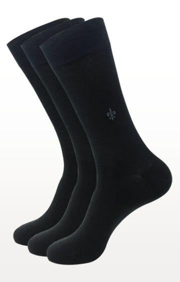 BALENZIA | Black Solid Socks - Pack of 3