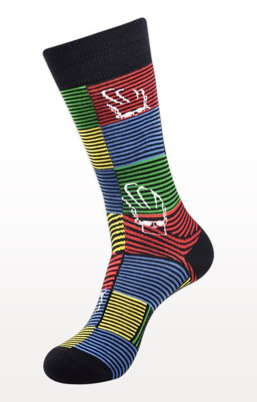 BALENZIA | Black Striped Socks