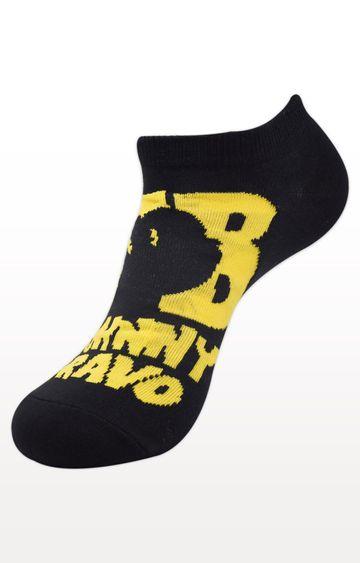 BALENZIA   Black Printed Socks