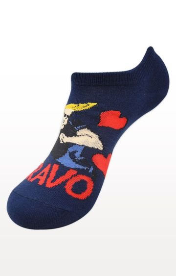 BALENZIA | Navy Printed Socks