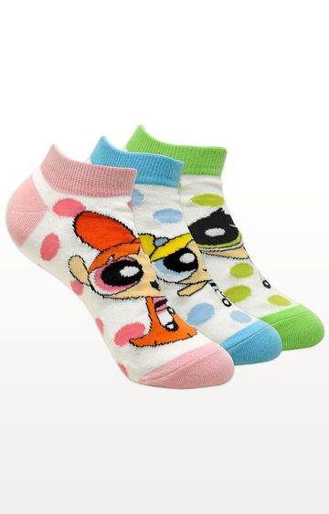 BALENZIA | Multicoloured Printed Socks - Pack of 3