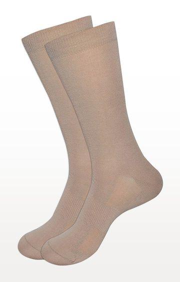BALENZIA | Beige Solid Socks - Pack of 2