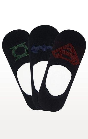BALENZIA | Black Printed Socks - Pack of 3