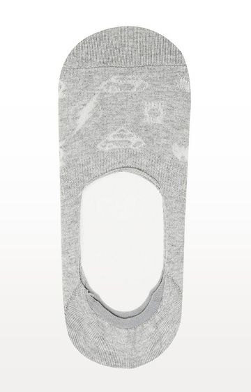 BALENZIA   Grey Printed Socks