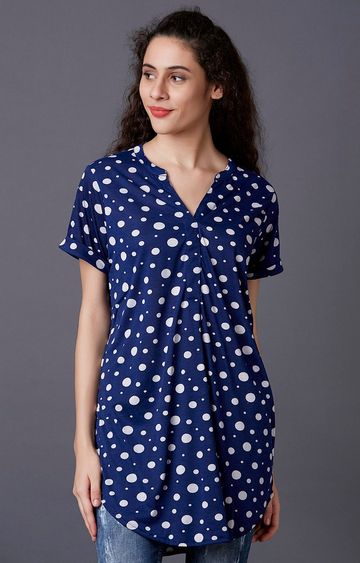 MARCA DISATI | Blue Polka Dots Tunic