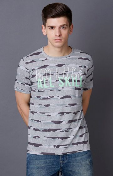 MARCA DISATI | Grey Printed T-Shirt