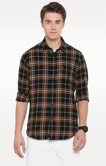 The Bear House | Black Checked Casual Shirt