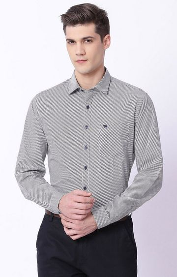 The Bear House   Grey Checked Formal Shirt