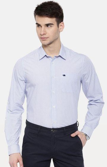 The Bear House | Blue Striped Formal Shirt