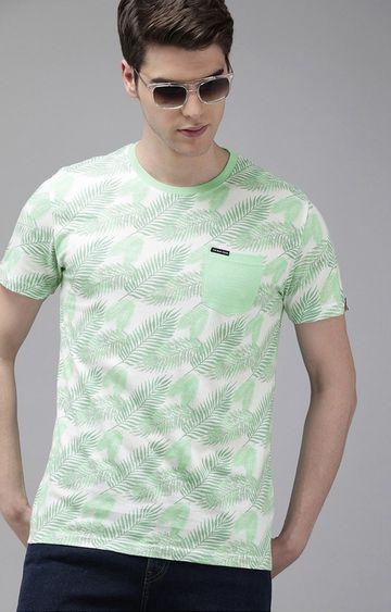 The Bear House | Green Printed T-Shirt