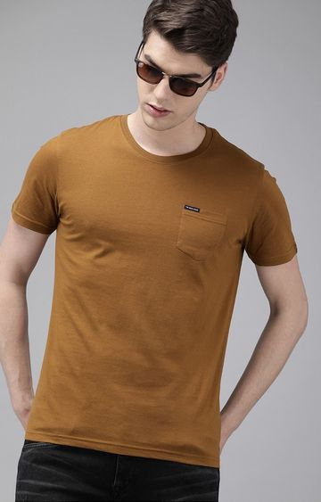 The Bear House   Brown Solid T-Shirt