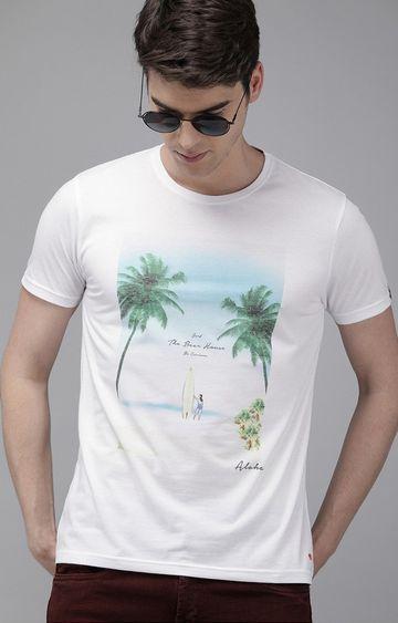 The Bear House | White Printed T-Shirt