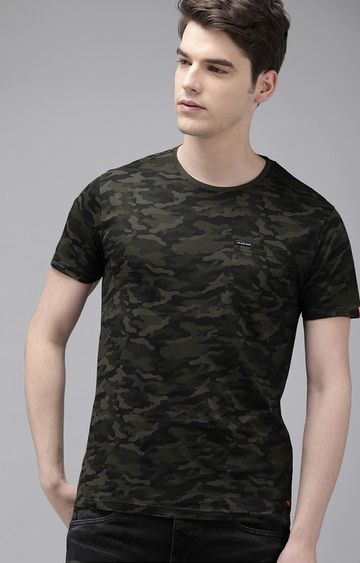 The Bear House | Green Camouflage T-Shirt