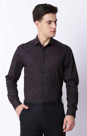 The Bear House | Black Printed Formal Shirt