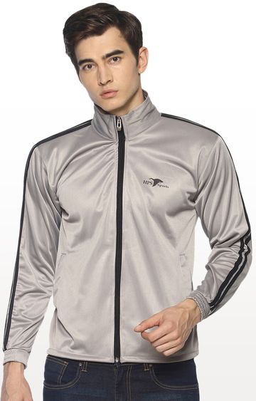 HPS Sports | Grey Solid Activewear Jacket