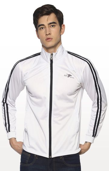 HPS Sports | White Solid Activewear Jacket