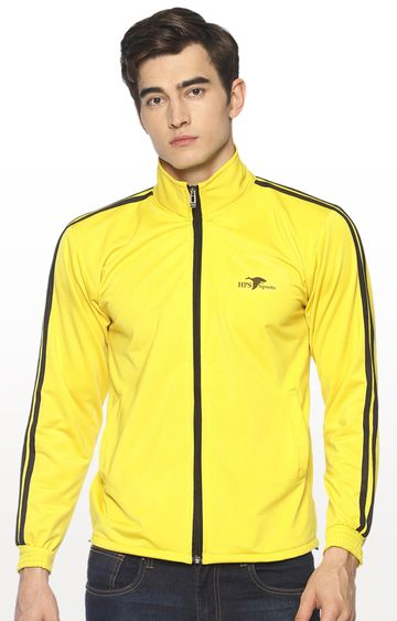HPS Sports | Yellow Solid Activewear Jacket