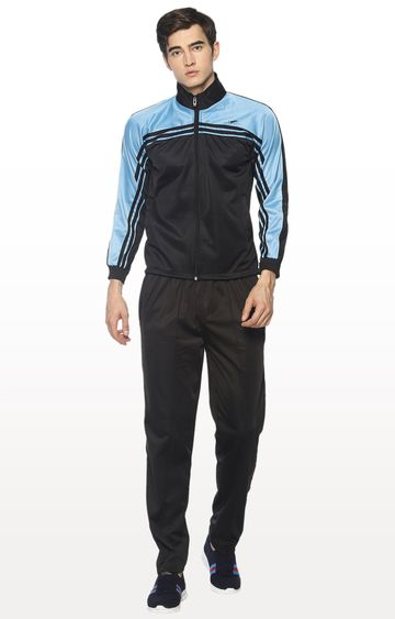 HPS Sports | Blue and Black Colourblock Tracksuit