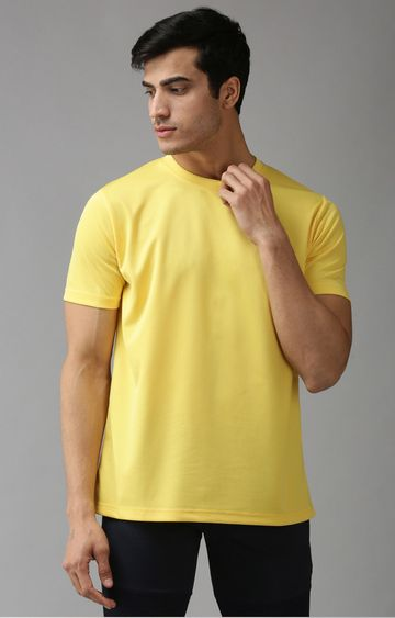 Eppe | Yellow Solid T-Shirt
