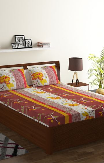 ISpace | IWS 104 TC Cotton Double Bedsheet