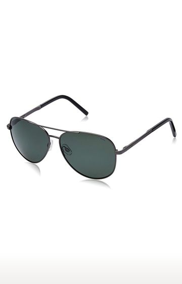 Invu | Aviator Sunglass with Green Lens