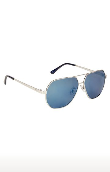 Invu | Aviator Sunglass with Blue Lens