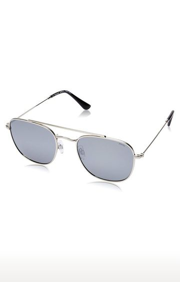 Invu | Square Sunglass with Silver Lens
