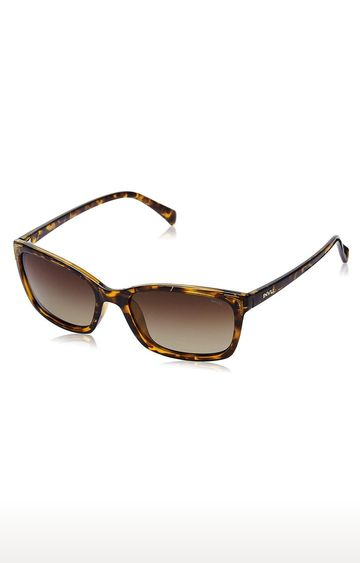 Invu | Rectangular Sunglass with Brown Lens