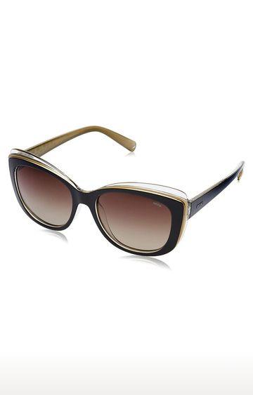 Invu | Cat-eye Sunglass with Brown Lens