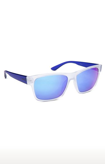 Invu | Rectangular Sunglass with Blue Lens