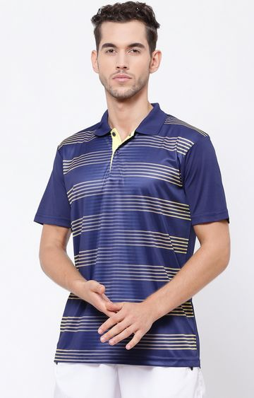 SG | Navy Striped Polo T-Shirt