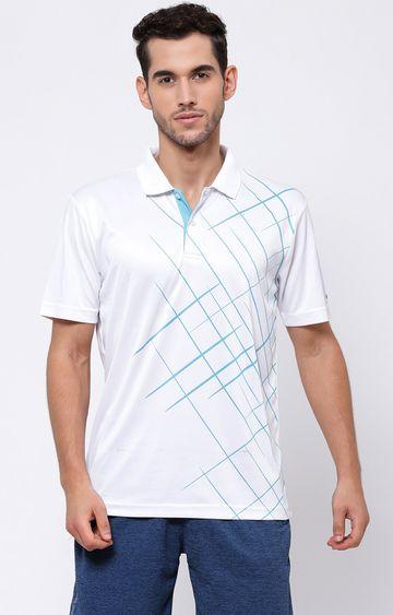 SG | White Printed Polo T-Shirt