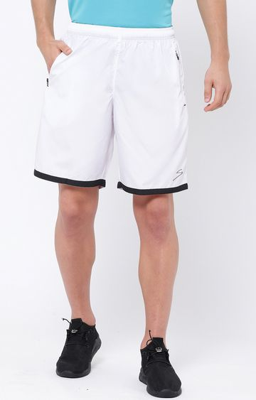SG | White Solid Shorts