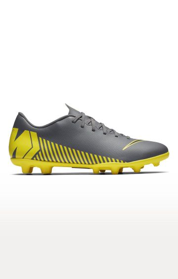Nike | Grey and Yellow Vapor 12 Club Multi-Ground Football Shoes