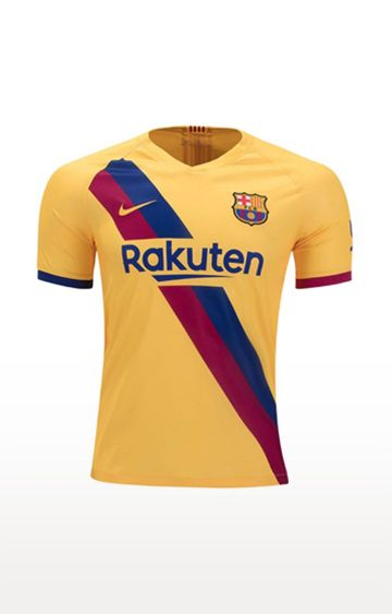 Nike | Yellow Printed FC Barcelona 2019 and 20 Stadium Away T-Shirt