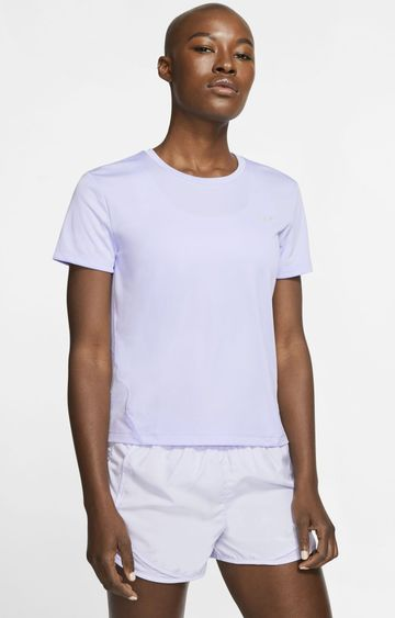 Nike | White Solid Miler T-Shirt