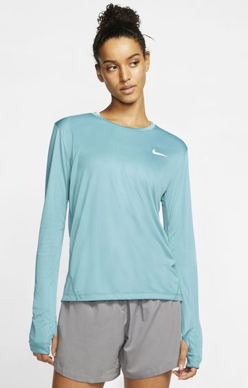 Nike | Green Miler Solid T-Shirt