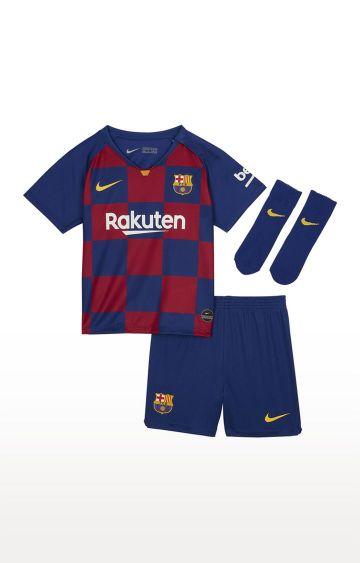 Nike | Blue Checked FC Barcelona 2019 20 Home Tracksuit