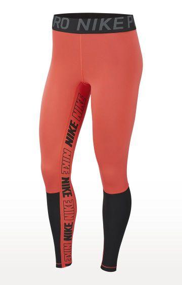 Nike | Orange Nike Pro Tights