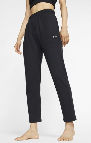 Nike | Black Solid Flow Trackpants