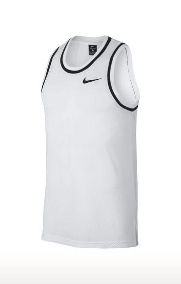 Nike | White Solid Dri-Fit Classic T-Shirt