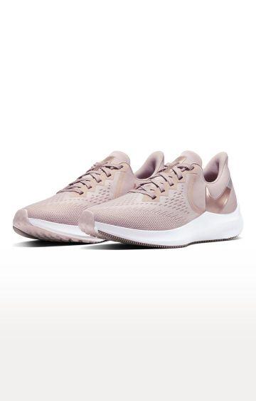 Nike   Peach Air Zoom Winflo 6 Running Shoes
