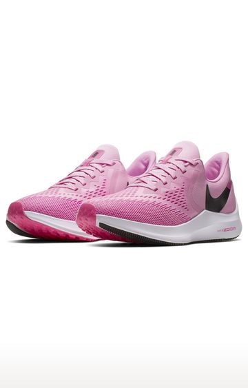 Nike   Pink Air Zoom Winflo 6 Running Shoes