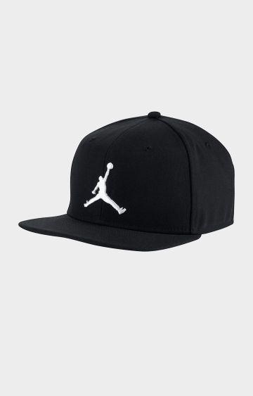 Nike | Black Solid Jordan Pro Jumpman Snapback Baseball Cap