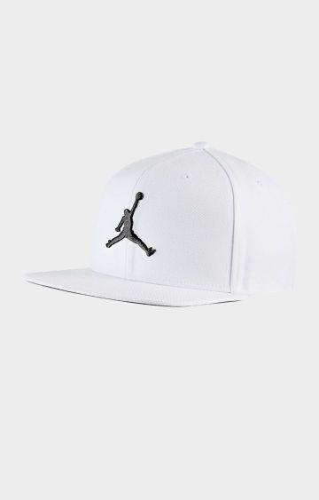 Nike | White Solid Jordan Pro Jumpman Snapback Baseball Cap