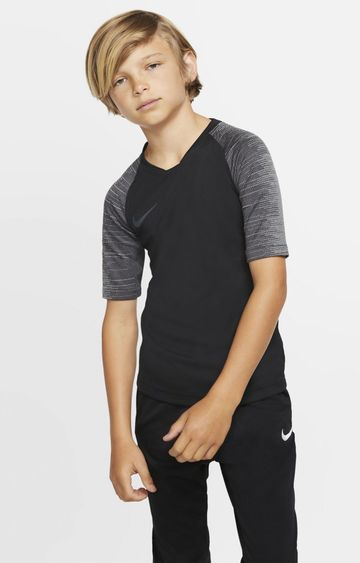 Nike | Black Solid Breathe Strike T-Shirt