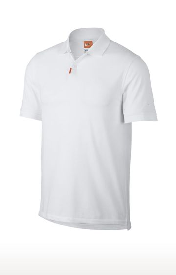 Nike | White Unisex Solid Polo T-Shirt